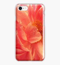 coral paeonia iPhone Case/Skin
