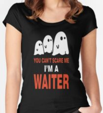 Cat Cats Halloween creepy Scary Funny Costume fun Women's Fitted Scoop T-Shirt