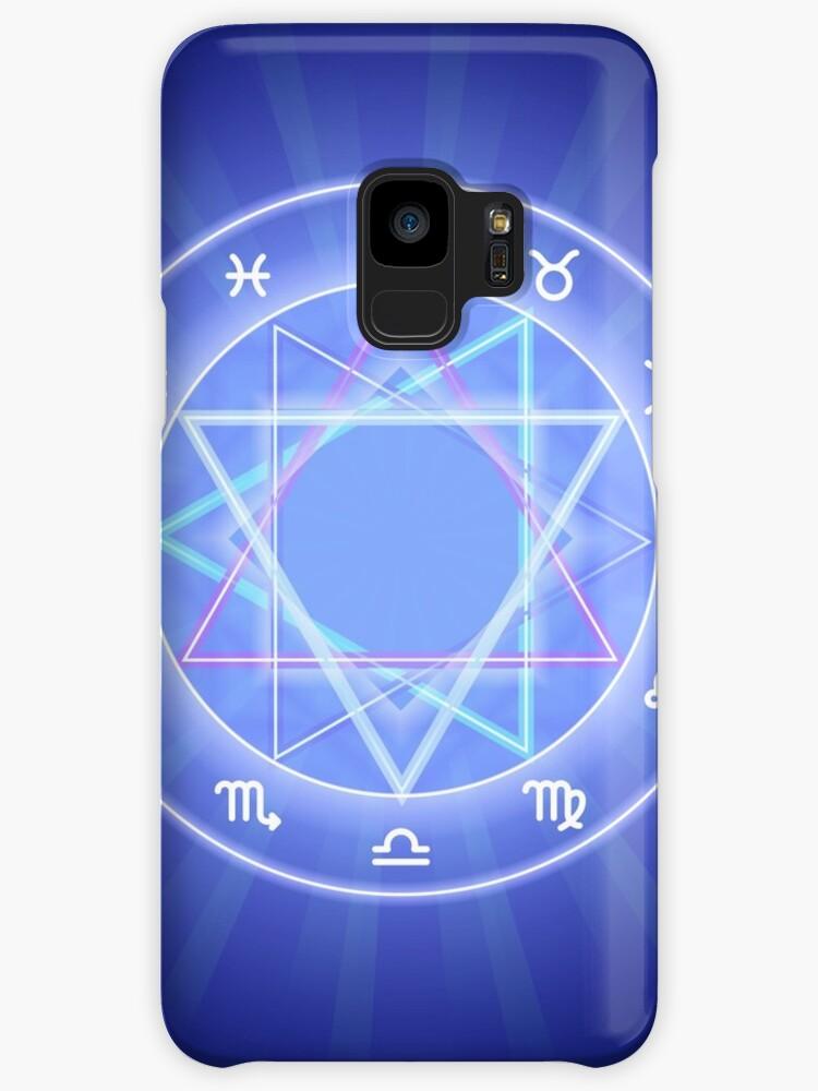 'Zodiac circle, glowing Zodiac signs set on dark blue' Case/Skin for  Samsung Galaxy by Slanapotam