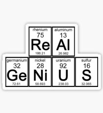 Elements of a Real Genius Sticker