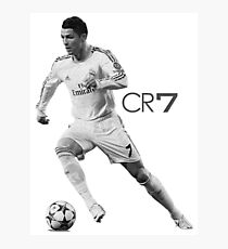 black CR7 game over Photographic Print