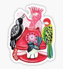 Four Calling Birds (12 Days of Christmas) - Pink Sticker