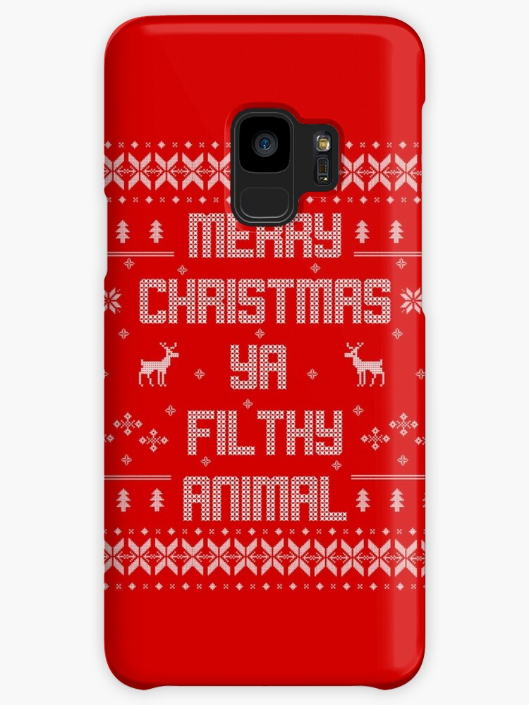 merry christmas you filthy animal white type by tpejoves