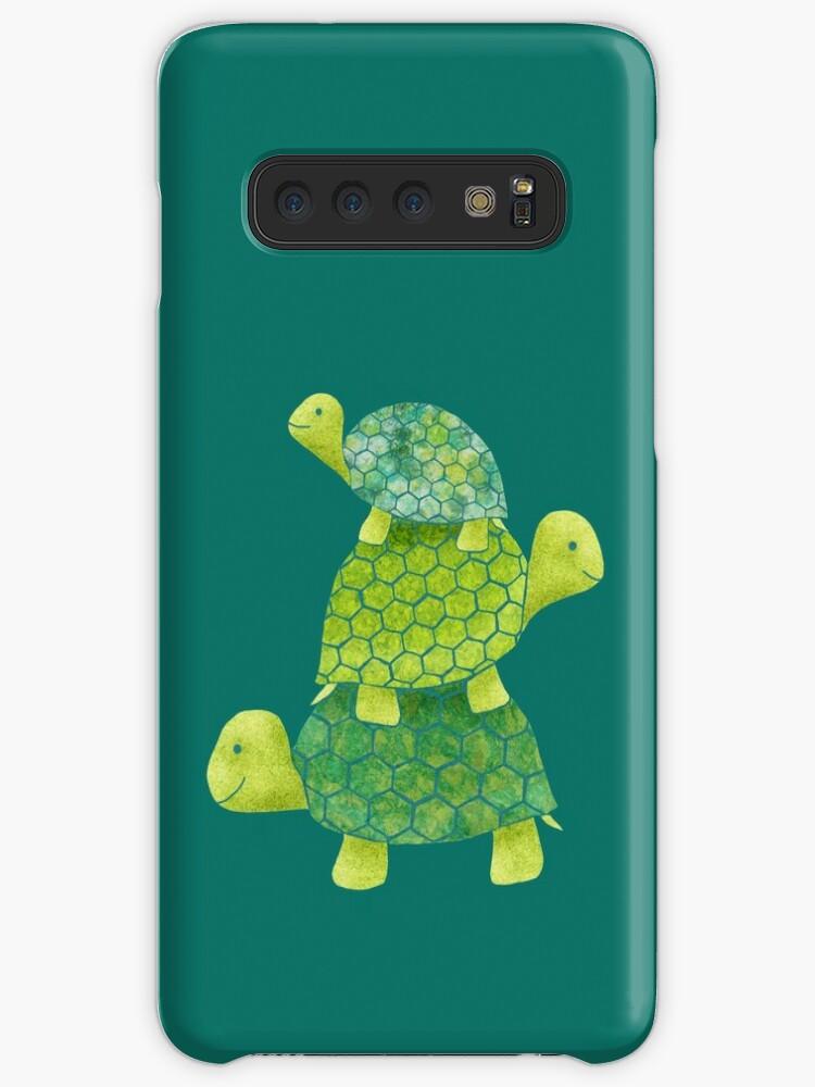 «Linda pila de tortugas en verde azulado, verde lima y turquesa» de ElephantTrunk