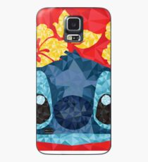 Geometric Stitch with Hawaiian Flowers  Case/Skin for Samsung Galaxy
