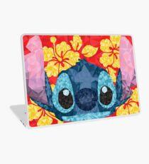 Geometric Stitch with Hawaiian Flowers  Laptop Skin