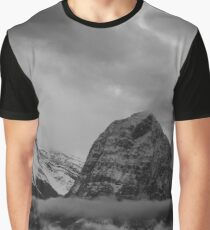 Cloudy Canadian Rockies Graphic T-Shirt
