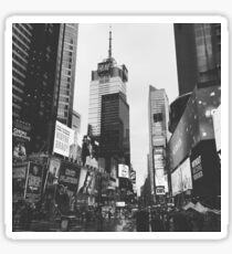 Times Square 2015 (Black and White) Sticker