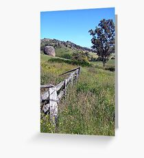 Country fence Greeting Card