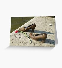 Eastern Europe, Hungary, Budapest, Shoes on the Danube Promenade by Gyula Pauer and Can Togay is a Hungarian Jewish WWII Memorial Greeting Card