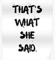 Thats What She Said Poster