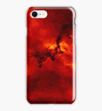 Red Fire Galaxy Pattern iPhone Case/Skin