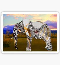 Clockwork Elephant Sticker
