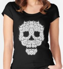 Skull is for Pussies Women's Fitted Scoop T-Shirt