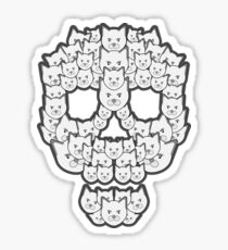 Skull is for Pussies Sticker