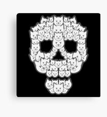 Skull is for Pussies Canvas Print