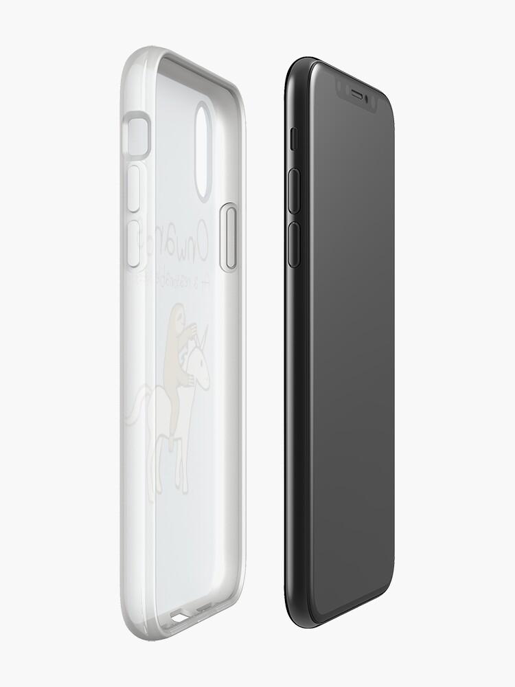 Alternative Ansicht von Weiter! Mit einer angemessenen Geschwindigkeit (Faultier Einhorn) iPhone-Hülle & Cover