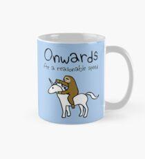 Onwards! At A Reasonable Speed (Sloth Riding Unicorn) Mug