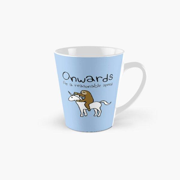 Onwards! At A Reasonable Speed (Sloth Riding Unicorn) Tall Mug