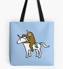 Bolsa de tela Slothicorn Riding Unicorn