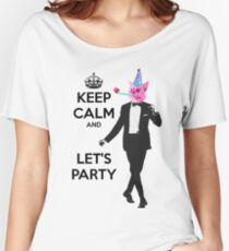 Keep calm and party - cat Women's Relaxed Fit T-Shirt