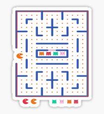 Arcade Maze Ghost Retro Labyrinth Video Game Interface  Sticker