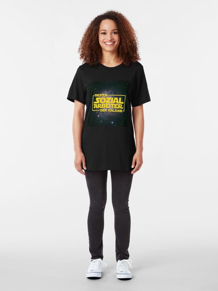 Alternative Ansicht von Space > Bester Sozialarbeiter der Galaxie > Nerd Slim Fit T-Shirt