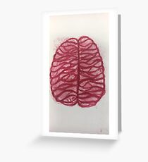Red Brains  Greeting Card