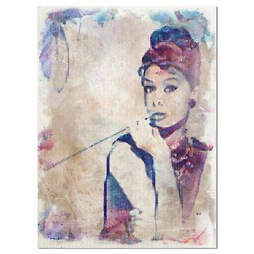 Audrey Hepburn Vintage  by LiseBriggs