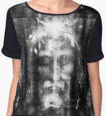 Shroud of Turin, Turin Shroud, Christianity, Christian, Icon, Bible, Biblical, Resurrection, Women's Chiffon Top