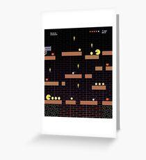 Arcade Computer Video Game Display  Greeting Card