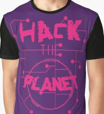Hack the Planet Typography Graphic T-Shirt