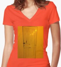 Door leading where Women's Fitted V-Neck T-Shirt