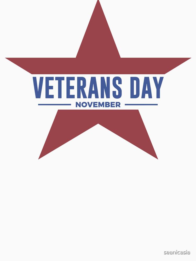 Veterans Day Commemorative Star Design by seanicasia