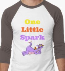 Figment One Little Spark Laying Down Baseball ¾ Sleeve T-Shirt