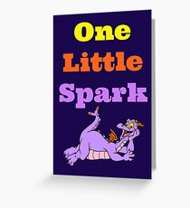 Figment One Little Spark Laying Down Greeting Card