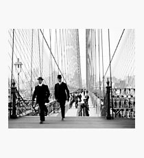 Brooklyn Bridge Vintage Photograph, 1905 Photographic Print