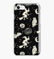 Bats & Jacks ~ Cream on Black iPhone Case/Skin