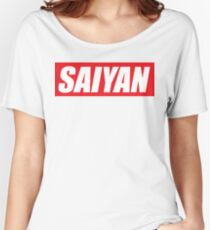 SAIYAN RED LOGO funny humor parody oryginal  Women's Relaxed Fit T-Shirt