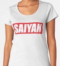 SAIYAN RED LOGO funny humor parody oryginal  Women's Premium T-Shirt
