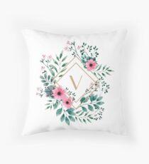 Watercolor V Throw Pillow