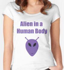 Alien in a Human Body Women's Fitted Scoop T-Shirt