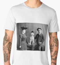 Vintage Photo of Dog Smoking Cigarette, 1900 Men's Premium T-Shirt