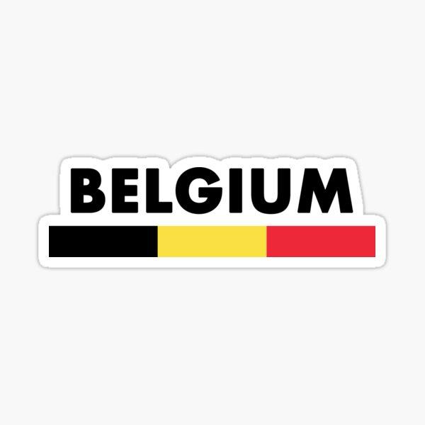 Belgium Flag Minimalist Sticker