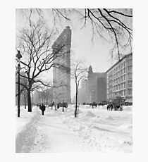 Vintage Flatiron Building Photo, 1905, New York City Photographic Print
