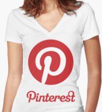 Pinterest  Women's Fitted V-Neck T-Shirt