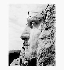 Construction at Mount Rushmore 1932  Photographic Print