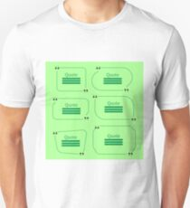 Quote Bubble. Set of Speech Bubbles. Empty Templates on Green Background T-Shirt