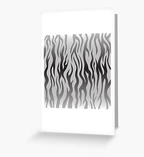 Zebra Pattern. Black and White Animal Background.Skin of Zebra Greeting Card