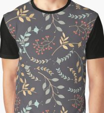 Elegant seamless  pattern with flowers, plants and berries Graphic T-Shirt